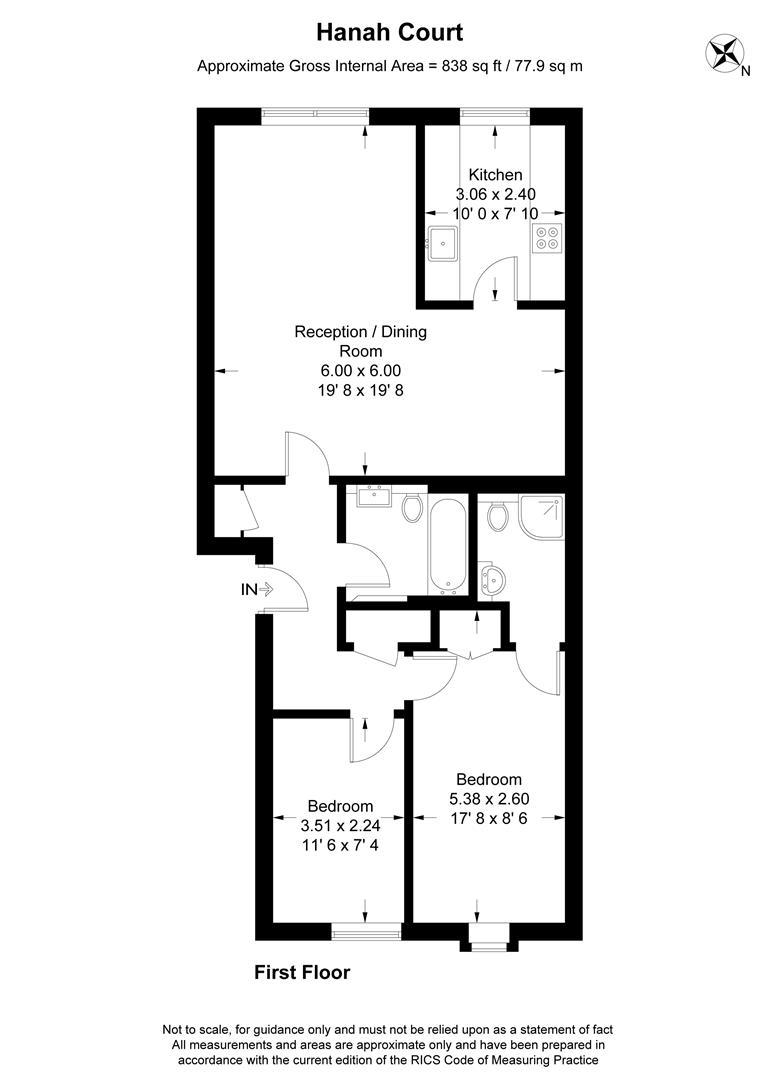 Floorplan for Hanah Court, Edge Hill, Wimbledon,